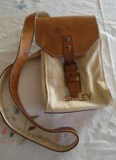 e8329a9ec8 Borsa tracolla vera pelle & tessuto Sisley Vintage style