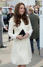 Jojo Maman Bebe Cream princess line maternity Coat. Worn by Kate Middleton, 12
