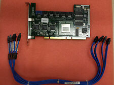 Dell WC192 Adaptec 2610SA 6 channel 64MB SATA RAID card with 4 cables tested wor