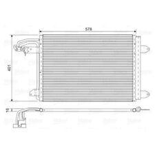1 Condenseur, climatisation VALEO 817777 convient à AUDI SEAT SKODA VW