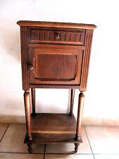 table de chevet ancien bois marbre niche tablette meuble chambre lit rangement