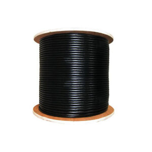 Cat6 Underground Gel Filled Outdoor UV Rated 305m Black Roll
