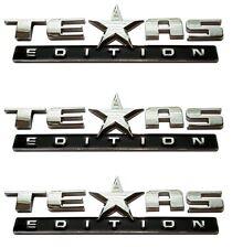(Set of Three) Texas Edition Emblem for Chevy Silverado Sierra Truck Universal