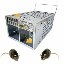 Humane Rat Trap Live Mouse Trap Indoor Animal Cage Multi Catch and 2 Door