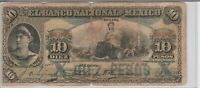 WORLD PAPER MONEY MEXICO ****10 PESOS LARGE BANK NOTE*** 1909!!!!