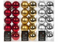 20 Pack 6cm (60mm) Christmas Tree Ornaments Hanging Baubles Xmas Decor