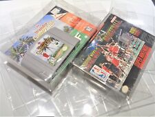 OVERSIZE 10 N64 Nintendo 64 Video Game Clear Case Cases Sleeve Box Protector CIB