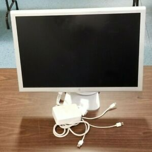 """Apple Cinema HD Display 23"""" DVI LCD Monitor W/ Cords + Power Adapter 4 Available"""