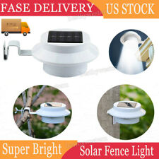 Solar Powered Outdoor Garden Light Gutter Fence 3 Led Wall Yard Home Bulb Lamp
