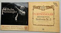 FURTWÄNGLER 2 LP BEETHOVEN SINFONIA N.2 - BRAHMS SINFONIA N. 3