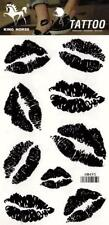 Temporary Tattoo Lips Kisses Body Art Removable HM495