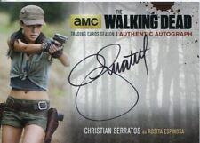 Walking Dead Season 4 Part 2 Autograph Card Cs2 Christian Serratos as Rosita