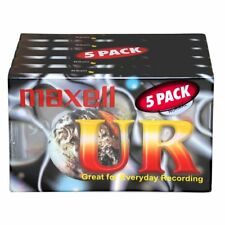 5 x Maxell UR90 90 Minutes Blank Audio Media Recording Cassette Tapes - NEW