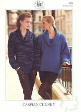 Chevy Caspian Chunky KNITTING PATTERN tunic and sweater with cowl neck 1279