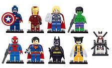 2018 9PC Marvel Avengers DC Super Hero Mini Figure Set Fits UK SELLER DEADPOOL