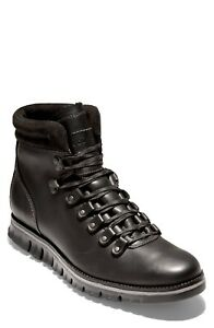 Cole Haan Mens Zerogrand Waterproof Hiking Ankle Boots Black Leather Size 8.5 M