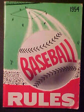 1954 NATIONAL FEDERATION BASEBALL RULES BOOKLET!