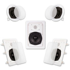 Acoustic Audio HT-55 In Wall In Ceiling 1000 Watt Home Theater 5 Speaker System