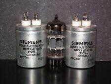 Two vintage MKV Capacitors 1mfd / 250V Siemens Klangfilm Hi End 1u 250V AC