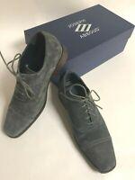 JOSEPH ABBOUD Mens Suede Leather Gray Cap Toe Dress Shoe Oxfords SIZE 8.5
