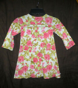 This Little Piggy Boutique Girls Pink Floral Long Sleeve Dress Size 2