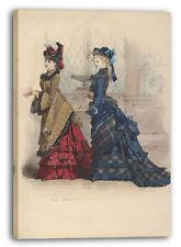 Lienzo/Marcos Jules David - Dos vestidos de mujer en el día