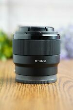 Sony FE 50mm f/1.8 Lens SEL50F18F E Mount with Both Caps