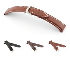 "RIOS1931 Hydrophobic Leather Watch Band ""Deep Sea"", 18-22 mm, 3 colors, new!"