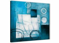 Teal White Painting Bathroom Canvas Accessories - Abstract 1s432s - 49cm