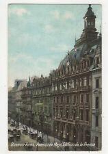 Buenos Aires Avenida de Mayo Edificio de la Prensa Argentina 1920 Postcard US033