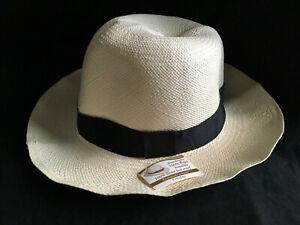 Cuban Fedora Panama Hat Genuine Montecristi Extrafino Straw Men's 7 3/4