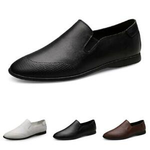 Mens Slip on Leisure Leather Loafers Shoes Driving Moccasins Pumps Flats Casual