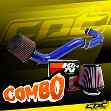 08-12 Honda Accord 4cyl 2.4L Blue Cold Air Intake + K&N Air Filter
