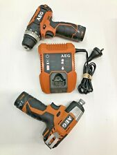 FREE SHIPPING!! AEG 12v Cordless Drill Impact Driver, compact 2 Piece Combo