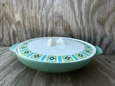 Bombay Green Ben Seibel Iroquois Large Casserole Serving Dish Made In U.S.A.