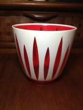 New listing 1950s modern Dialene better maid red and white plastic planter Made in the Uk