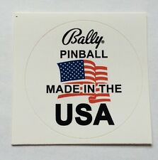 Bally pinball made in USA DECAL pour playfield verre