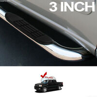 """3"""" Chrome Steel Side Step Nerf Bars Running Boards HD For 04-08 F150 Super Crew"""