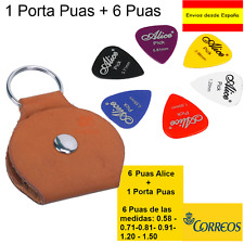1 Porta Puas  + 6  Puas de Guitarra Alice :0.58 0.71 0.81 0.96 1.20 1.50 mm