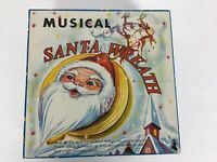 "Vintage Musical Santa Wreath w/Box ""Jingle Bells"" Holiday Decorations"