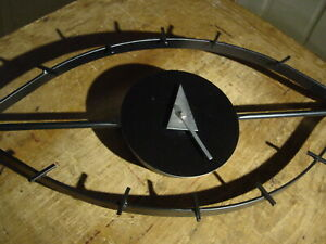 "GEORGE NELSON DESIGNED MID-CENTURY MODERN STYLE ""EYE"" WALL CLOCK WORKING"