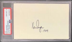 Ken Dryden Signed Cut Autograph MontrealCanadiens Hockey HOF PSA/DNA Gem 10 Auto