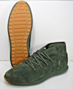 Men's Under Armor Suede Veloce Mid Shoes Green (Size 12) New