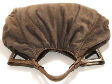 FAY BY TOD'S °° Große Tasche · Leder · Veloursleder · grün-braun · Made in Italy