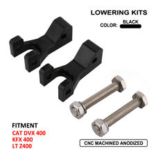 Black Front Lowering Kit For ARCTIC CAT DVX400 Kawasaki KFX400 Suzuki LTZ400