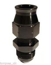 "AN -6 (6AN JIC AN6) STRAIGHT Male To 5/16"" (8mm) Tube Adapter Black"