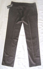 RINASCIMENTO MADE IN ITALY TWEED DRESS CAREER PANTS -BROWN -SIZE L / W34