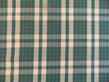 Waverly woven plaid decorator fabric in green and tan