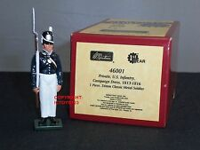 BRITAINS 46001 BLUECOATS US INFANTRY PRIVATE CAMPAIGN DRESS METAL TOY SOLDIER