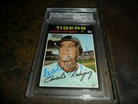 1971 TOPPS #464 Aurelio Rodriguez Signed Detroit Tigers Authentic PSA/DNA d.2000